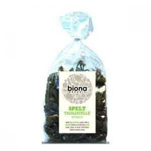 Biona Spelt Spinach Tagliatelle – Artisan Rolled 250g