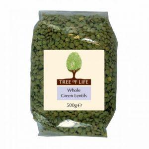 Tree of life Organic Green Lentils 500g