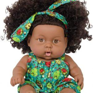 Nice2you 8 Inch Black Dolls Fashion African Girl Dolls Lifelike Baby Play Doll