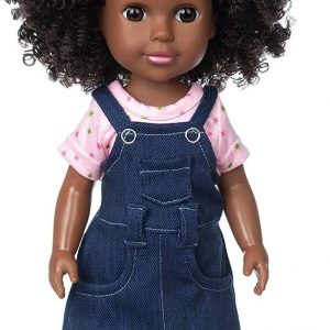 ZITA ELEMENT Black Doll 14.5 Inch Baby Girl Doll and Clothes Set