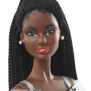 Barbie Signature 2021 Holiday Doll (12-inch, Brunette Braided Hair)